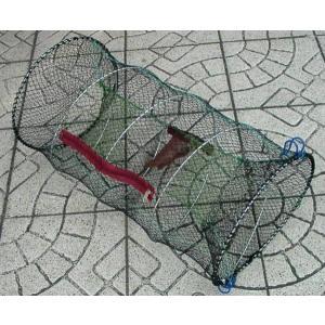 (サンナ)スプリング式アナゴ・エビ取りカゴ60cm|uido