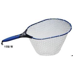 プロックス ラバーランディングネット ハイブリッド 15型(ブルー) PX93015CB|uido