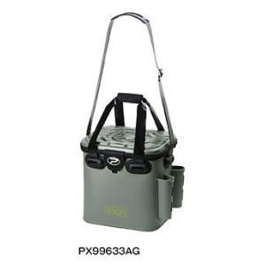 プロックス(PROX)EVAタックルバック ロッドホルダー付 PX99633AG 33cm アーミーグリーン|uido