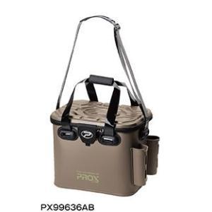 プロックス(PROX)EVAタックルバック ロッドホルダー付 PX99636AB 36cm アーミーブラウン|uido