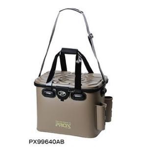プロックス(PROX)EVAタックルバック ロッドホルダー付 PX99640AB 40cm アーミーブラウン|uido