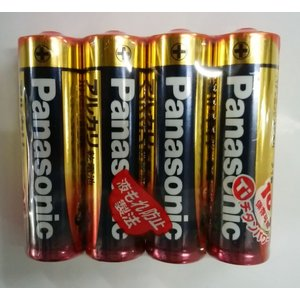 パナソニック 単3形アルカリ乾電池 4本パック LR6XJ/4SE|uido
