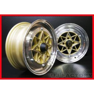 4本購入で送料無料 4H PCD114.3 -26 旧車ホイール [COLIN PROJECT] 復刻版 (スターシャーク) STAR SHARK GOLD 14×9.0J