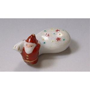 清水焼 京焼 箸置 サンタクロース 京都の手作り かわいい はしおき 贈り物ギフトにもおすすめ