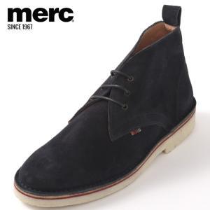 Merc London メルク シューズ 本革レザー 革靴 靴 本革 スエード ネイビー Navy ...
