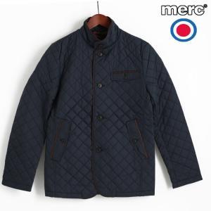 メルクロンドン Merc London ブレザージャケット キルティング ダークネイビー ブルゾン メンズ|ukclozest