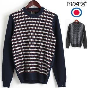 メルクロンドン Merc London セーター アーガイルチェック ダイヤモンド ジャガード ウール ニットセーター 2色|ukclozest