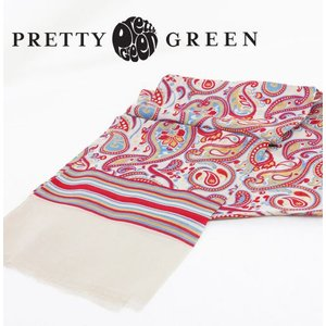 Pretty Green ペイズリースカーフ シルク ストール リアム・ギャラガー|ukclozest