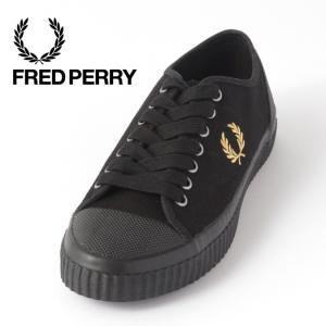 フレッドペリー メンズ スニーカー シューズ ヒューズロー キャンバス Fred Perry ユニセックス ブラック レディース ukclozest