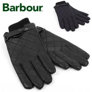 Barbour バブアー Bedale バーブアー レザーグローブ 手袋 キルティング 本革 メンズ|ukclozest