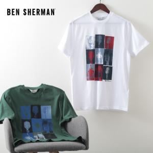 ベンシャーマン メンズ Tシャツ マイク Ben Sherman 2色 トレッキンググリーン ホワイト レギュラーフィット|ukclozest