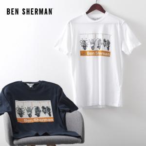 ベンシャーマン メンズ Tシャツ スクーター VESPA ベスパ Ben Sherman 2色 ホワイト ダークネイビー レギュラーフィット|ukclozest