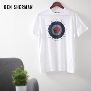 ベンシャーマン メンズ Tシャツ ターゲットマーク エクイップメント Ben Sherman ホワイト ターゲット レギュラーフィット|ukclozest