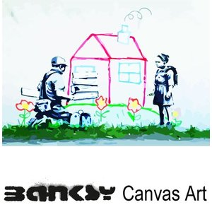 Banksy バンクシー Girl boarded up crayon playhouse アート|ukclozest