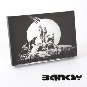 """BANKSY CANVAS ART SMALL キャンバス アートパネル ポスター スモール  """"F..."""