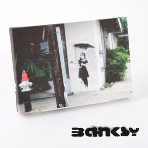 """BANKSY CANVAS ART SMALL キャンバス アートパネル ポスター スモール  """"R..."""