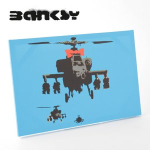 """BANKSY CANVAS ART バンクシー キャンバスアート ポスター  """"Helicopter..."""
