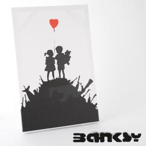 "BANKSY CANVAS ART バンクシー キャンバスアート ポスター  ""Kids On Gu..."