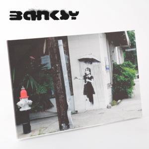 "BANKSY CANVAS ART バンクシー キャンバスアート ポスター  ""Rain Under..."
