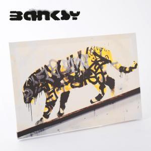 """BANKSY CANVAS ART バンクシー キャンバスアート ポスター """"Tiger Yello..."""