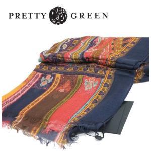 Pretty Green レトロペイズリースカーフ シルク ストール リアム・ギャラガー イタリア製|ukclozest