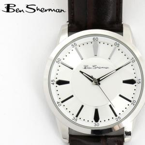 ベンシャーマン Ben Sherman 腕時計 ホワイトシルバーフェイス 円形 メンズ モッズ ギフト|ukclozest