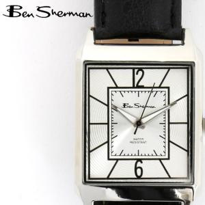ベンシャーマン Ben Sherman 腕時計 シルバーフェイス レクタングル 長方形 縦長 メンズ モッズ ギフト|ukclozest