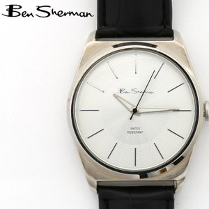 ベンシャーマン Ben Sherman 腕時計 シルバーフェイス 円形 メンズ モッズ ギフト|ukclozest