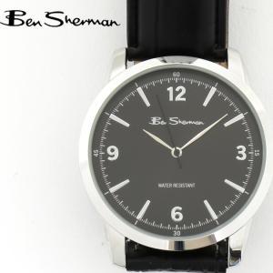 ベンシャーマン Ben Sherman 腕時計 ブラックフェイス 円形 メンズ モッズ ギフト|ukclozest