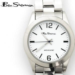 ベンシャーマン Ben Sherman 腕時計 ホワイトフェイス 円形 メンズ モッズ ギフト|ukclozest