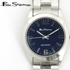 ベンシャーマン Ben Sherman 腕時計 ダークブルーフェイス 円形 メンズ モッズ ギフト|ukclozest