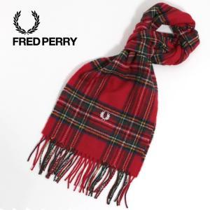 フレッドペリー Fred Perry マフラー チェック ローヤルスチュワートタータン ウール メンズ レディース|ukclozest