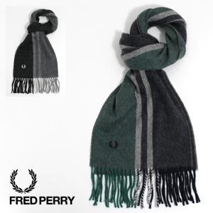 フレッドペリー Fred Perry マフラー ストライプ ティップド ウーブン スカーフ メンズ レディース|ukclozest