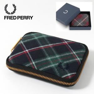 フレッドペリー Fred Perry 財布 ジップラウンド ビルフォード ハウス タータン チャコール タータン 本革 ウォレット 二つ折り財布 2色|ukclozest