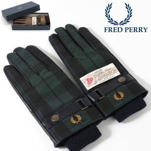 フレッドペリー 正規販売店 Fred Perry 手袋 グローブ タッチスクリーン スマホ対応 2色 ネイビー カーキ|ukclozest
