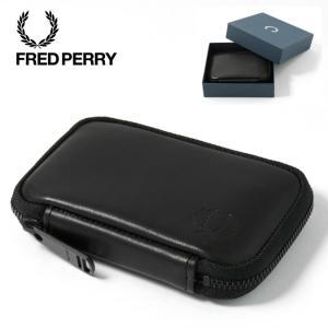 フレッドペリー 正規販売店 Fred Perry ジップアラウンド レザー コンパクト ウォレット ...
