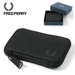 フレッドペリー 正規販売店 Fred Perry シェルター コンパクト ウォレット ブラック 防水