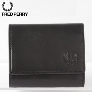 フレッドペリー メンズ 三つ折り財布 レザー コンパクト ウォレット Fred Perry 10×8...