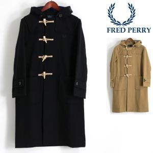 【送料無料】上着 アウター ジャケットコート ロングコート 黒 フレッド・ペリー フレッドペリー F...