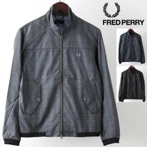 フレッドペリー Fred Perry ハリントンジャケット プリント スウィングトップ 3色 グレー...