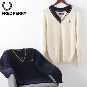 フレッドペリー メンズ セーター チルデンニット Fred Perry プレッピー 2色 ネイビー ...
