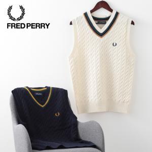 フレッドペリー メンズ ベスト チルデンニット Fred Perry プレッピー 2色 ネイビー オ...