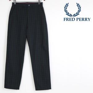 フレッドペリー 正規販売店 Fred Perry ズボン ワイドパンツ チェック ブラックウォッチ ...