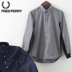 フレッドペリー メンズ ウーブンシャツ ブラッシュド フランネル Fred Perry 2色 ネイビ...