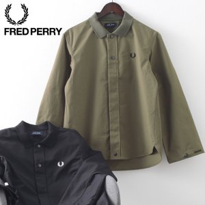 フレッドペリー メンズ シャツジャケット 2WAY Fred Perry 2色 ブラック オリーブ 正規販売店 ukclozest
