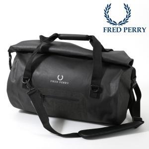 フレッドペリー 正規販売店 Fred Perry バレルバッグ ドラムバッグ シェルター 50×50x30cm ブラック|ukclozest