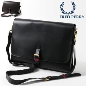 フレッドペリー 正規販売店 Fred Perry サッチェルバッグ レザー 本革レザー 34x25.5x5cm 2色 ブラック チョコレート クラシック|ukclozest