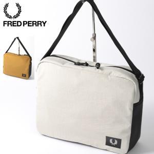 フレッドペリー メンズ ショルダーバッグ ナイロンキャンバス Fred Perry 36×29cm ...