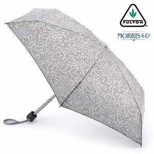 ウィリアム モリス エイコーン FULTON x Morris 傘 フルトン 花柄 傘 折りたたみ傘 タイニー Tiny 英国王室御用達 レディース ukclozest