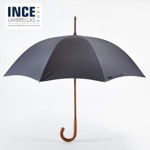 英国製ハンドメイド INCE UMBRELLA 1805 インスアンブレラ 紳士用高級長傘 ソリッド スティック マラッカ グレー メンズ ukclozest